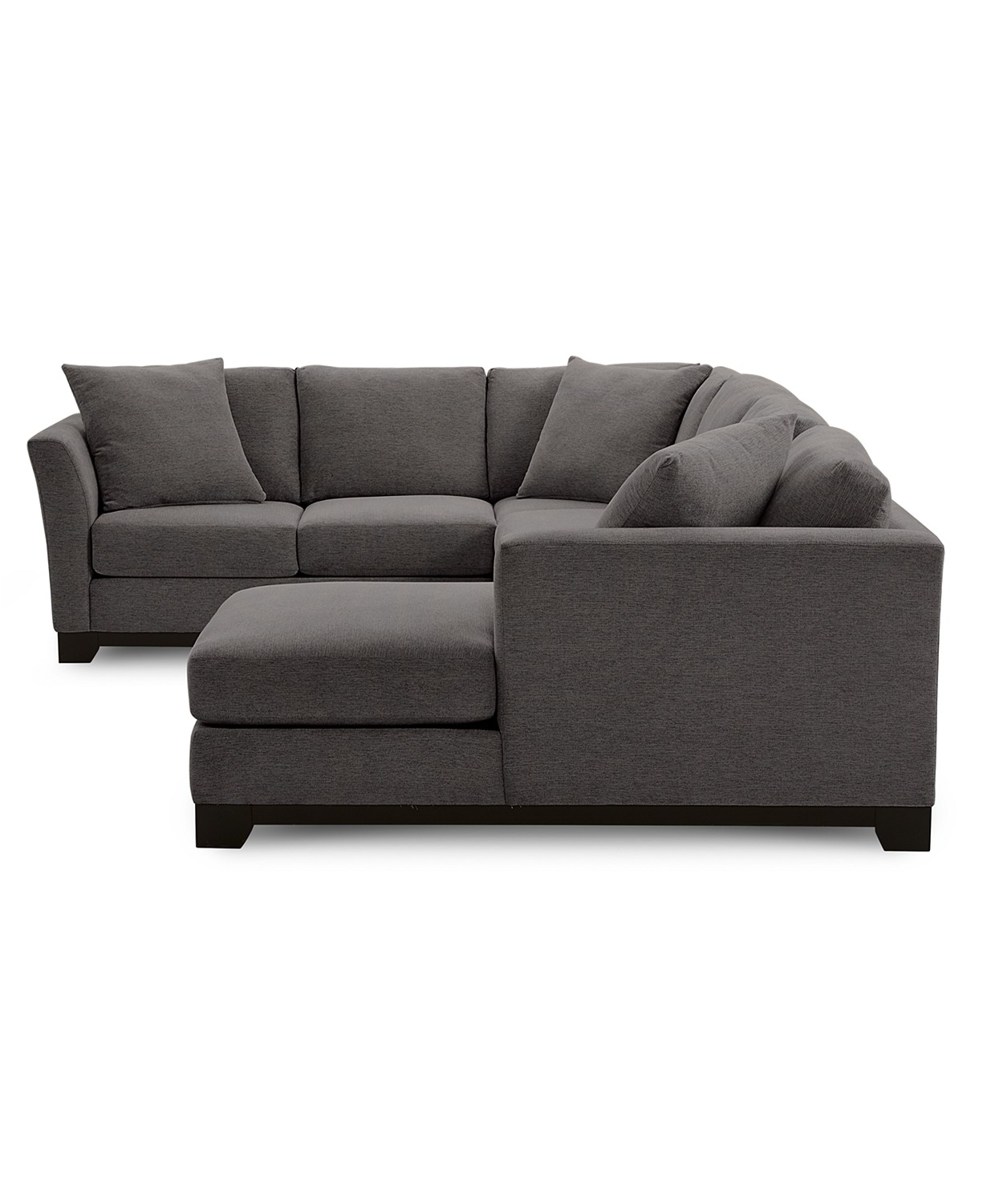 "41% Off Elliot II 138"" Fabric 3-Pc Chaise Sectional"