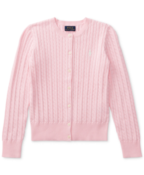 30% Off Big Girls Cable-Knit Cotton Cardigan
