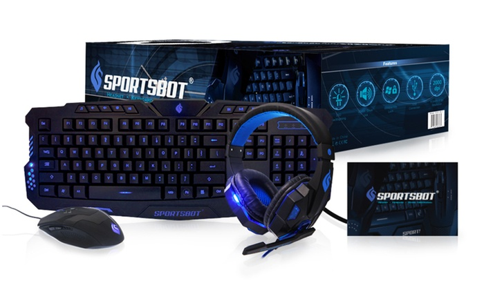 42% de descuento en paquete gaming SportsBot de teclado, auriculares y ratón
