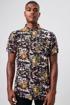 46% Off Classic fit floral Tiger Shirt