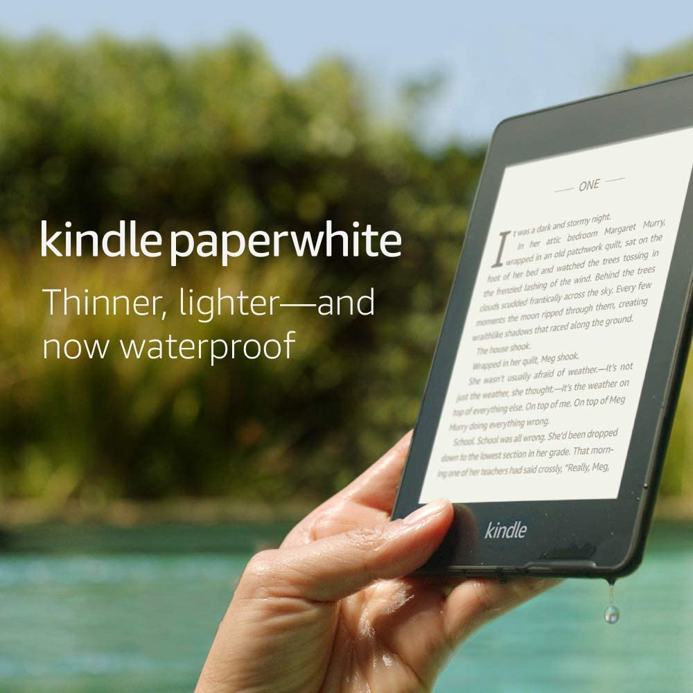 34% Off Kindle Paperwhite – Now Waterproof with more than 2x the Storage – Ad-Supported