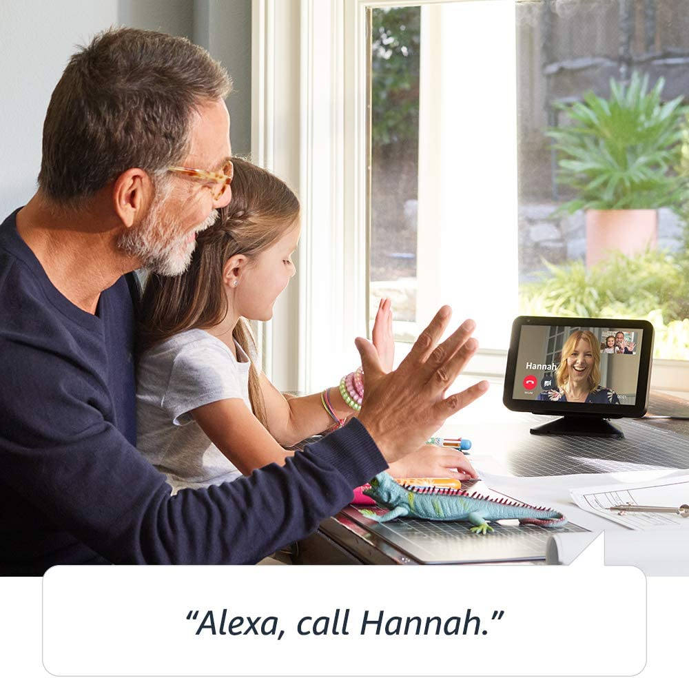 50% Off Echo Show 8 -- HD smart display with Alexa – stay connected with video calling - Charcoal