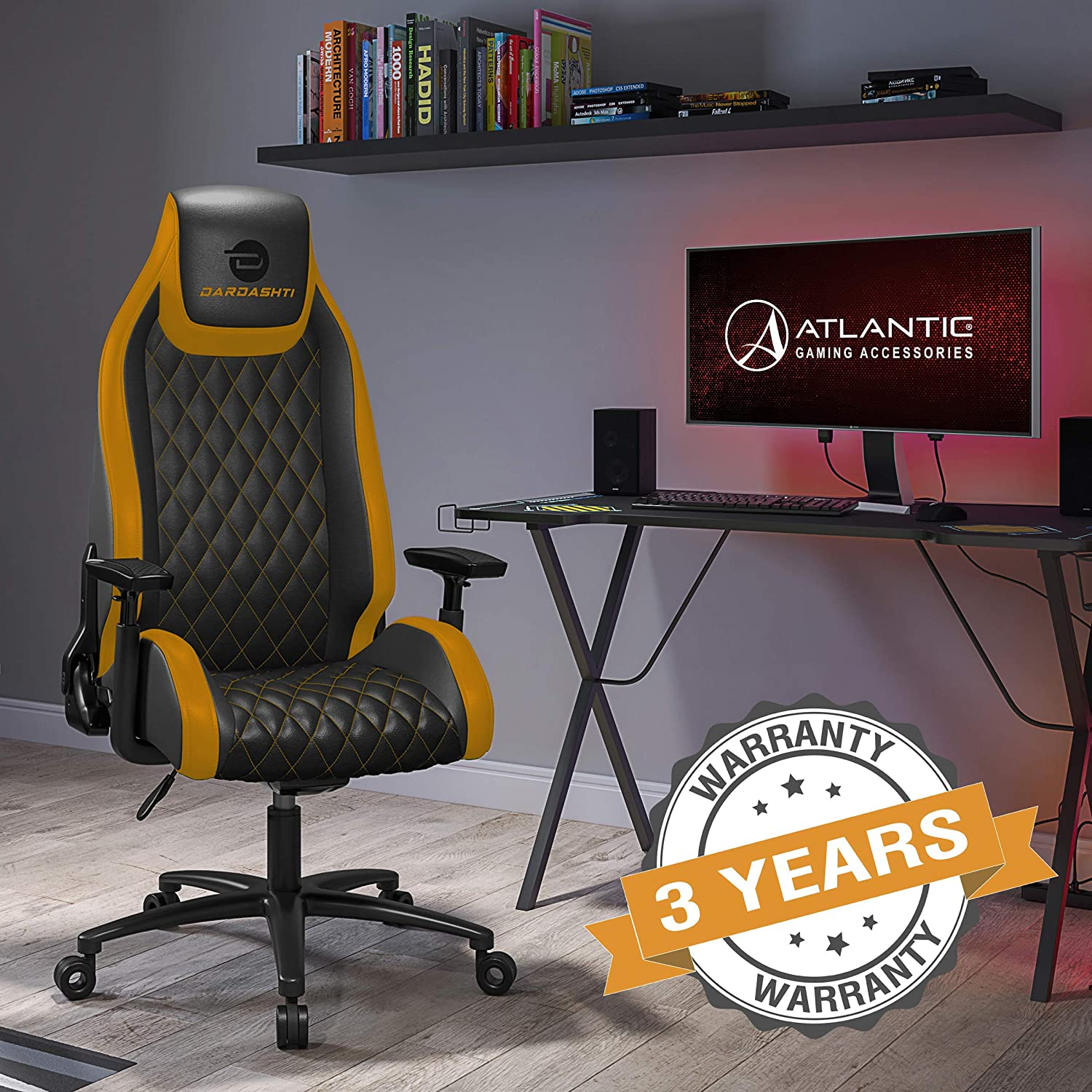 25% Off Atlantic Dardashti Gaming Chair - Commercial Grade, BIFMA X5.1 Tested, Next-Gen Ergonomic
