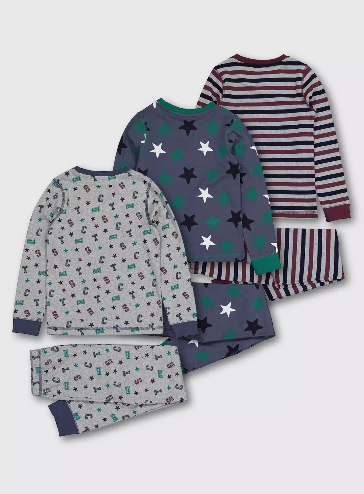 25% Off Letter & Star Snuggle Fit Pyjama 3 Pack - 1.5-2 years