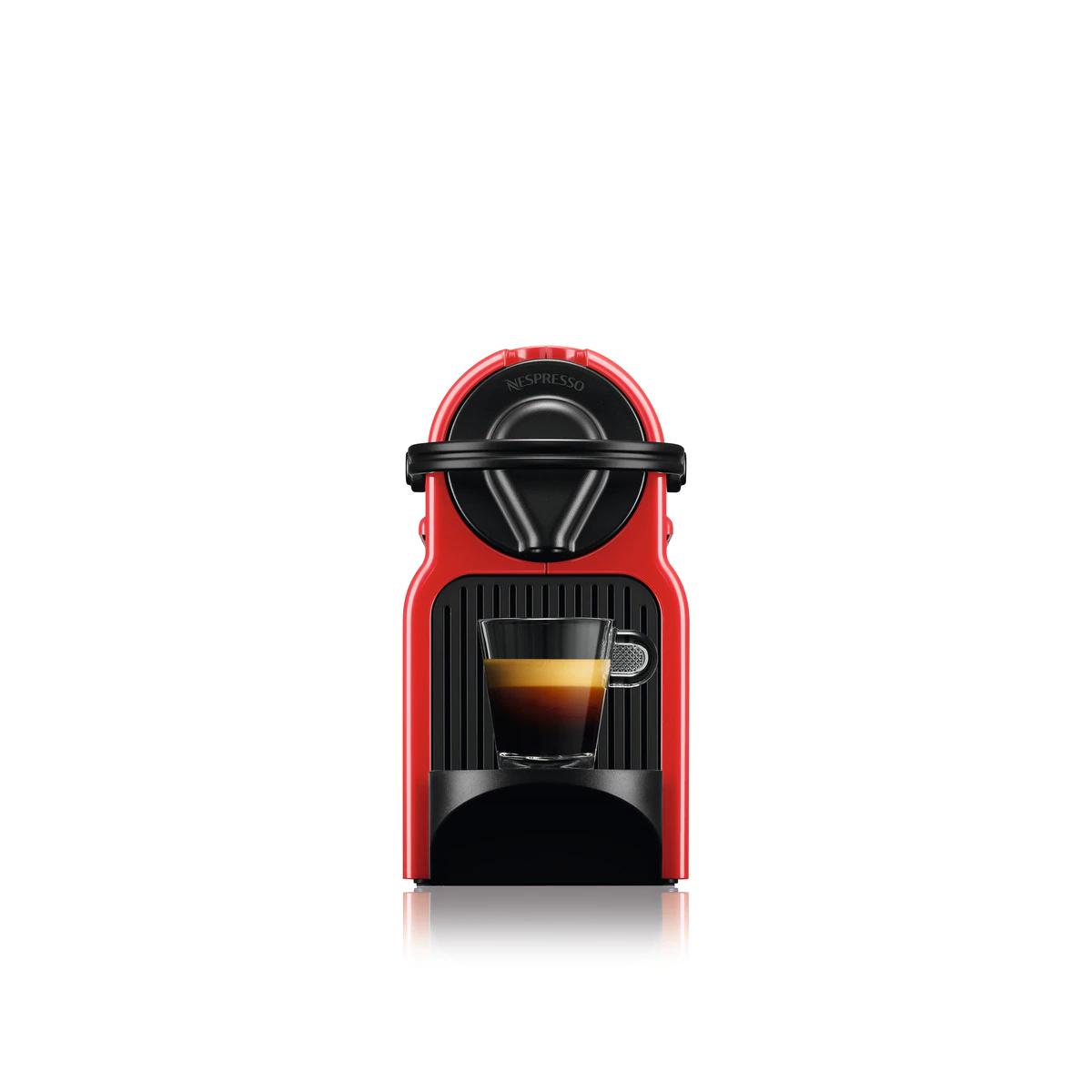 40% de descuento en Cafetera espresso automática Krups Inissia Red para cápsulas NESPRESSO