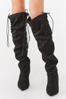 50% Off Ruched Knee High stiletto boots