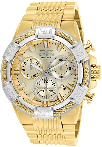 43% Off Invicta Men's Bolt Quartz Watch with Stainless-Steel Strap, Gold 16 (Model: 25868)